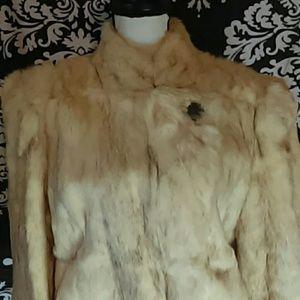 Vintage genuine real rabbit fur coat BB Dakota